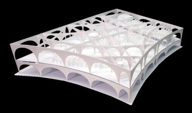 Knihovna Tama Art University - Konstrukční model.