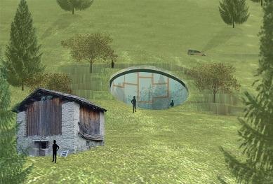 House in Vals - Počítačová vizualizace - foto: © SeARCH