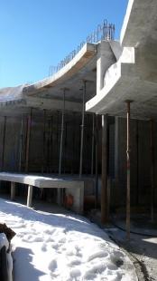 House in Vals - Fotografie z průběhu realizace domu. - foto: © SeARCH