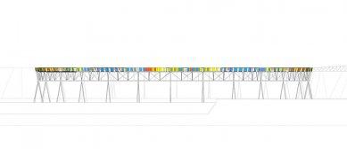 Lávka nad Brick Pit - Pohled - foto: Durbach Block Architects
