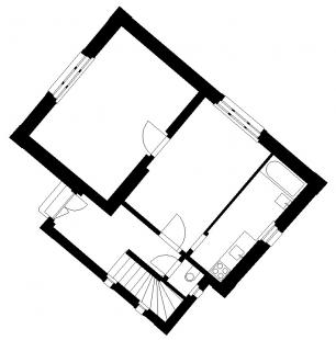 Dům s oknem - Původní stav - foto: HŠH architekti
