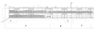 Domov pro seniory Hagibor - Rozvinutý pohled dvora - foto: L&P ateliér