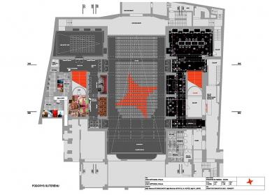 Rekonstrukce kina Světozor - Půdorys kina - foto: Skupina