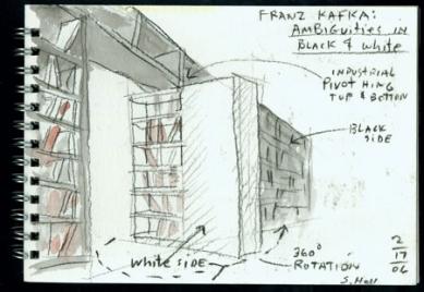 Společnost Franze Kafky - Skica - foto: © Steven Holl Architects, 2006