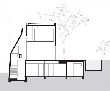 Spry House - Řez - foto: Durbach Block Architects