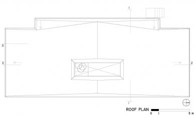 Casa X - Půdorys střechy - foto: © arquitectura x