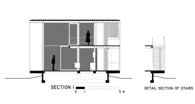 Casa X - Řez 1 - foto: © arquitectura x