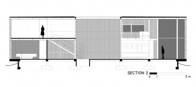 Casa X - Řez 2 - foto: © arquitectura x