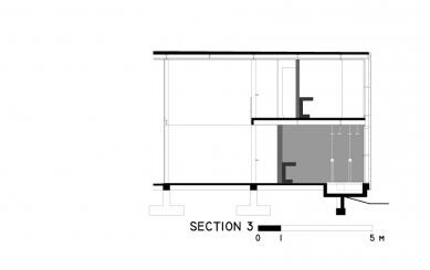 Casa X - Řez 3 - foto: © arquitectura x