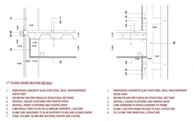 Casa X - Detail - řez mezipatrem - foto: © arquitectura x