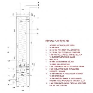 Casa X - Detail - vodorovný řez obvodovou stěnou - foto: © arquitectura x