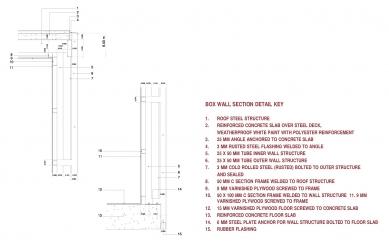 Casa X - Detail - řez stěnou - foto: © arquitectura x