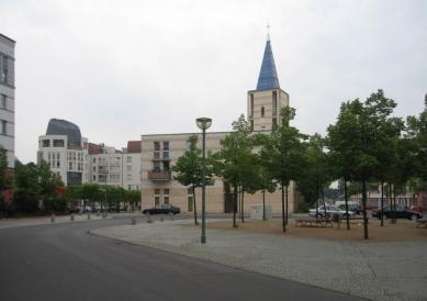 Čtvrť Kirchsteigfeld - Kostel a komunitní centrum, Burelli - foto: Martin Horáček