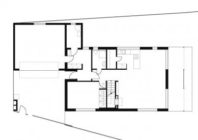 Rodinný dům v Budyni nad Ohří - 1NP - foto: 3+1 architekti