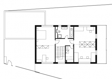 Rodinný dům v Budyni nad Ohří - 2NP - foto: 3+1 architekti