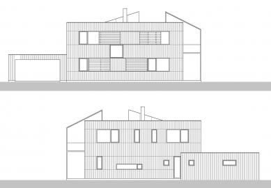 Rodinný dům v Budyni nad Ohří - Pohledy východní a západní - foto: 3+1 architekti