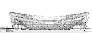 National Stadium - Řez - foto: Herzog & de Meuron