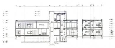 Policejní stanice v Boxtel - Podélný řez - foto: IR Wiel Arets Architect & Associates