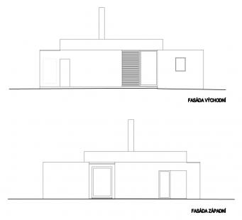 Vila v Nespekách - Fasáda západní, fasáda východní