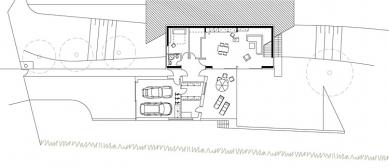 Rodinný dům ve Veverských Knínicích - 1NP - foto: Architektonická kancelář Burian-Křivinka