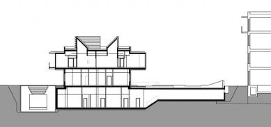 PET Centrum MOÚ - Řez - foto: Architektonická kancelář Burian-Křivinka