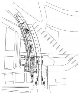 Železnice a autobusové nádraží Lausanne  - Level -6m