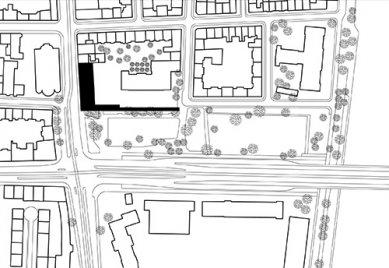 Development of the Dreirosen-Klybeck Schoolhouse - Situace - foto: Morger & Degelo Architekten