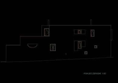Rodinný dům v Řevnicích - Pohled západní