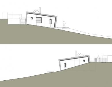 Rodinný dům Družec - Východní a západní pohled - foto: © 3+1 architekti