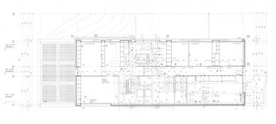 Vlastní dům a studio Wiel Aretse - Půdorys patra - foto: IR Wiel Arets Architect & Associates