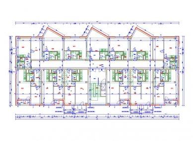 Rekonstrukce panelového domu - Půdorys