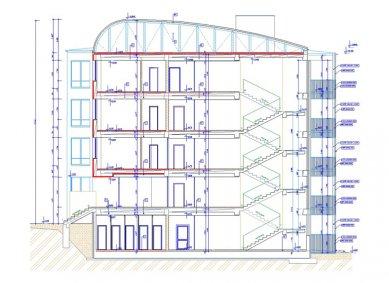 Rekonstrukce panelového domu - Řez