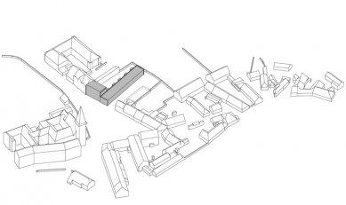 Bytový dům s malými byty - Axonometrie - foto: AP atelier