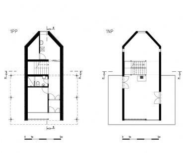 Rodinný dům v Lelekovicích - Půdorysy 1PP a 1NP - foto: NEW WORK