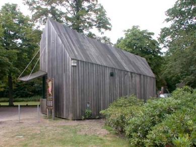 Muzejní areál Kröller-Müller - Dřevěná pokladna MVRDV - foto: Petr Šmídek, 2003