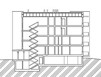 Obytný soubor Chodovec - Řez - foto: S.H.S architekti s.r.o.