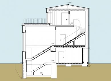 Rekonstrukce funkcionalistické vily - Řez