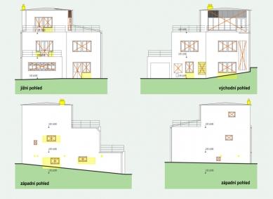 Rekonstrukce funkcionalistické vily - Pohledy - bourací práce