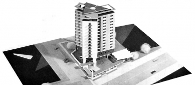 Hotel Continental, Brno - Model - foto: Architektura ČSR 1961