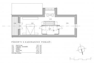 Obnova domu v Zádveřicích - 2NP - foto: Pavel Mudřík Architects