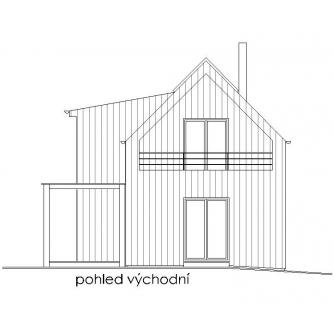 Obnova domu v Zádveřicích - Pohled východní - foto: Pavel Mudřík Architects