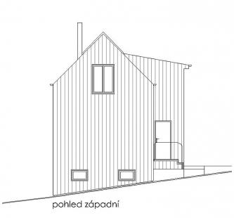 Obnova domu v Zádveřicích - Pohled západní - foto: Pavel Mudřík Architects