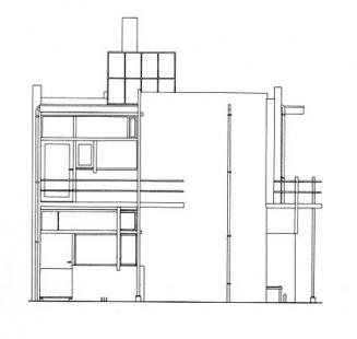 Dům Rietvelda a Schröderové - Uliční fasáda