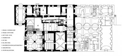 Rekonstrukce zámeckého pivovaru vLitomyšli - Přízemí - návrh