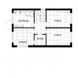 Rodinný dům Domesi – Zlatá I. - Půdorys 2NP