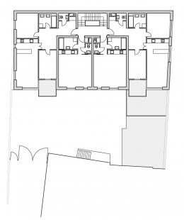 Bytový dům v Řevnicích - Půdorys typického podlaží