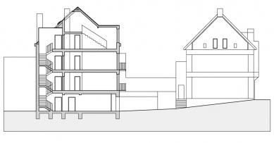Bytový dům v Řevnicích - Řez