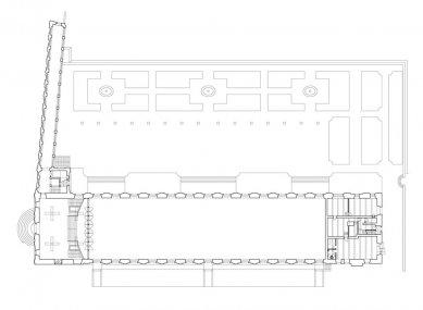 Rekonstrukce Jízdárny Pražského hradu - foto: Přízemí - původní stav