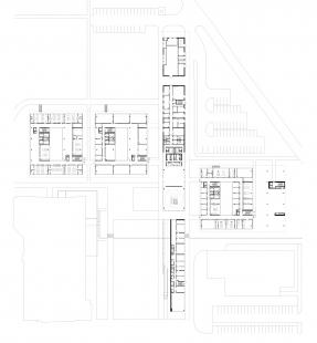 Fakulta chemicko-technologická a Tělovýchovná zařízení Univerzity Pardubice - FCHT - 1NP - foto: Kuba, Pilař architekti