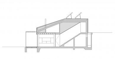 Rodinný dům v Myšlíně - Řez příčný - foto: Aulík Fišer architekti